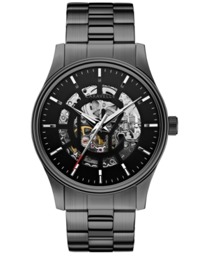 Caravelle New York by Bulova Men's Automatic Gunmetal-Tone Stainless Steel Bracelet Watch 42mm 45A121