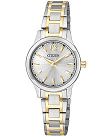 Citizen Women's Two-Tone Stainless Steel Bracelet Watch 25mm EL3034-58A