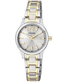Citizen Women's Two-Tone Stainless Steel Bracelet Watch 25mm EL3034-58A