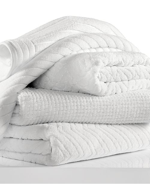 Hotel Collection CLOSEOUT! White Shop Towel Collection, Created for Macy's