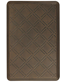 WellnessMats 3' x 2' Motif Moire Antique Floor Mat