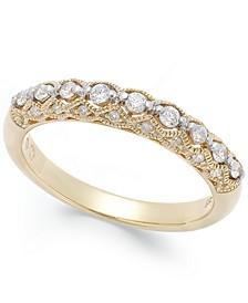 Diamond Milgrain Band Ring (1/4 ct. t.w.) in 14K White Gold or Gold