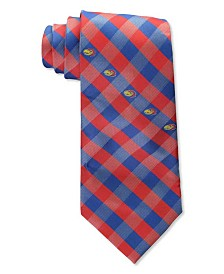 Eagles Wings Kansas Jayhawks Checked Tie