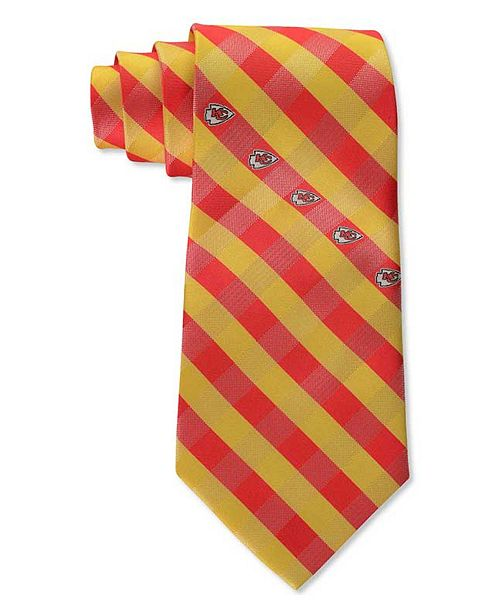 Eagles Wings Kansas City Chiefs Checked Tie