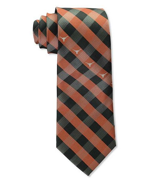 Eagles Wings Texas Longhorns Checked Tie