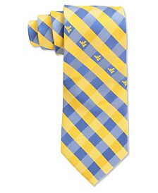 Eagles Wings West Virginia Mountaineers Checked Tie