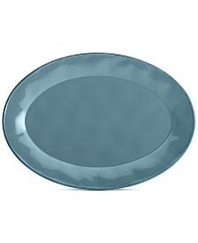Cucina Agave Blue Oval Platter