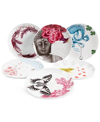 Clinton Kelly Effortless Table Set of Six Different Dessert Plates