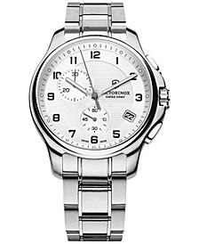 Men's Chronograph Officer Stainless Steel Bracelet Watch 42mm