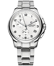 Victorinox Swiss Army Men's Chronograph Officer Stainless Steel Bracelet Watch 42mm