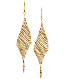 Kenneth Cole New York Mesh Twist Drop Earrings