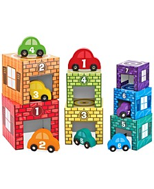 Melissa and Doug Kids' Nesting & Sorting Garages & Cars Toy