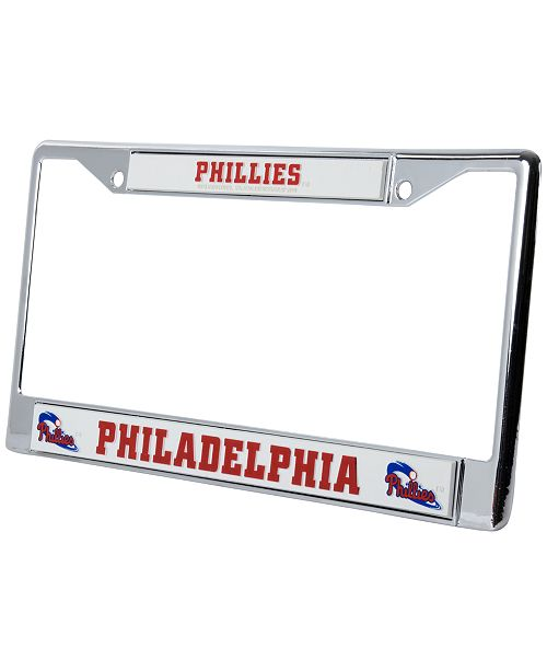 Rico Industries Philadelphia Phillies Chrome License Plate Frame