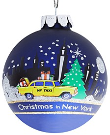 80mm New York Glass Ball Ornament