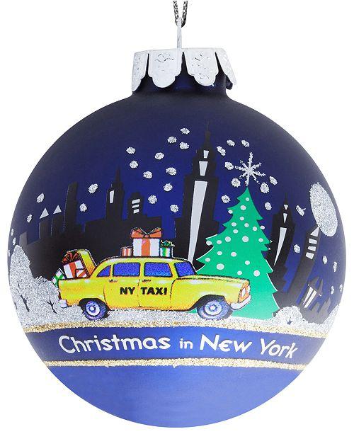 Kurt Adler 80mm New York Glass Ball Ornament