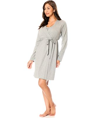 Bump In The Night™ Nursing Nightgown & Robe - Maternity - Women ...