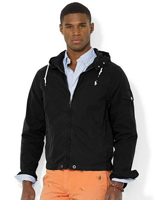 Polo Ralph Lauren Men's Hooded Windbreaker - Coats & Jackets - Men ...