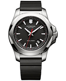 Victorinox Swiss Army Men's I.N.O.X. Black Rubber Strap Watch 43mm 241682.1