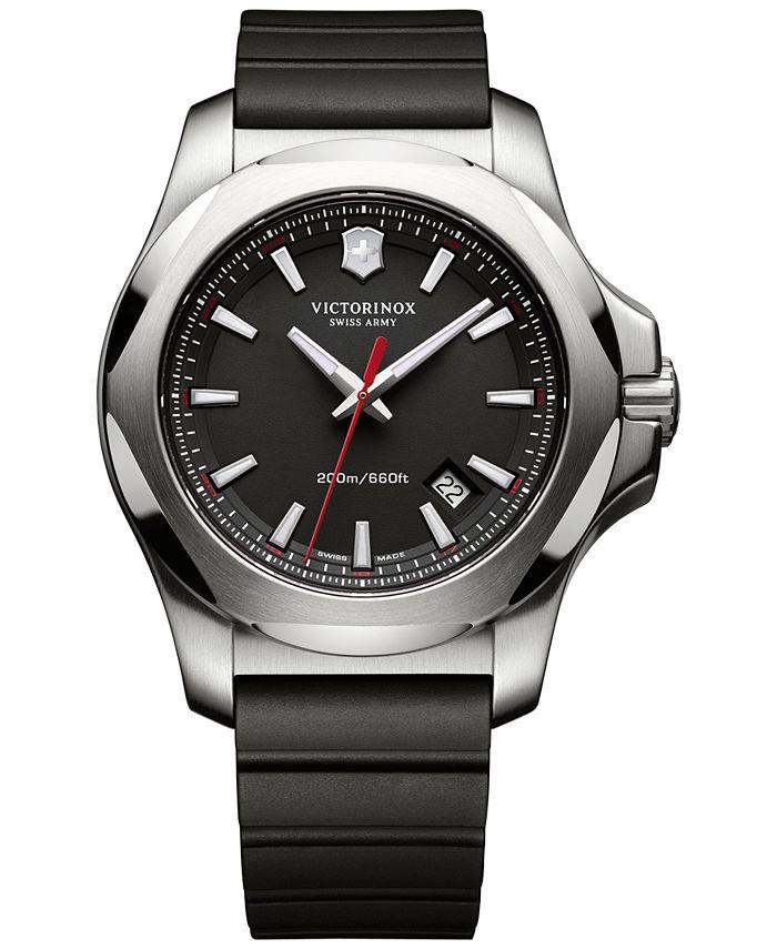 Victorinox Swiss Army - Men's I.N.O.X. Black Rubber Strap Watch 43mm 241682.1
