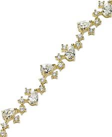 Cubic Zirconia Multi-Shape Bracelet in 18k Gold over Sterling Silver