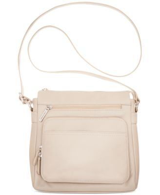 Giani Bernini Na Leather Front Zip Crossbody Created For Macy S Handbags Accessories