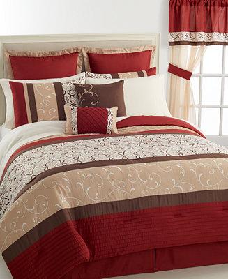 Closeout Palladium 24 Piece Queen Comforter Set Bed In