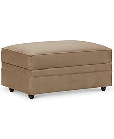 CLOSEOUT! Kaleigh Fabric Storage Ottoman