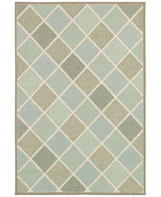 "Indoor/Outdoor Runner Rug, Monaco 2470/2007 Meridian Multi 2'3"" x 11'9"""