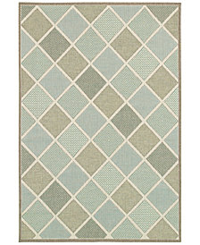 "Couristan Indoor/Outdoor Area Rug, Monaco 2470/2007 Meridian Multi 5'3"" x 7'6"""