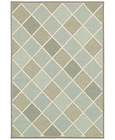Couristan Indoor/Outdoor Area Rugs, Monaco 2470/2007 Meridian Multi