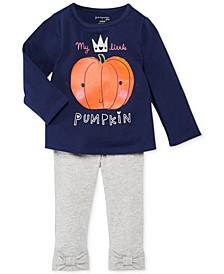 Baby Girls' Pumpkin Tee & Bow Leggings