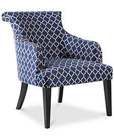 Tinsley Fabric Lattice Accent Chair, Quick Ship