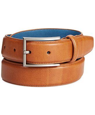 Ryan Seacrest Disctinction Perfect Tan Glove Leather Belt