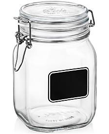 Bormioli Rocco Fido Chalk Label Large Jar, 33.75 oz.