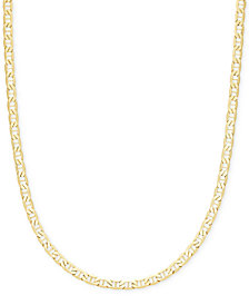 "Italian Gold 22"" Marine Link Chain Necklace in 14k Gold"