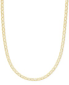 "Italian Gold 22"" Marine Link Chain Necklace (4-1/10mm) in 14k Gold"