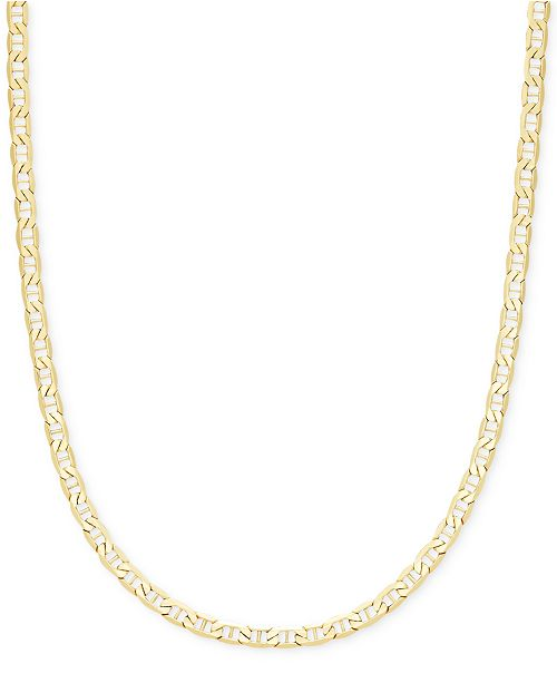 Italian Gold Chain >> 22 Marine Link Chain Necklace 4 1 10mm In 14k Gold