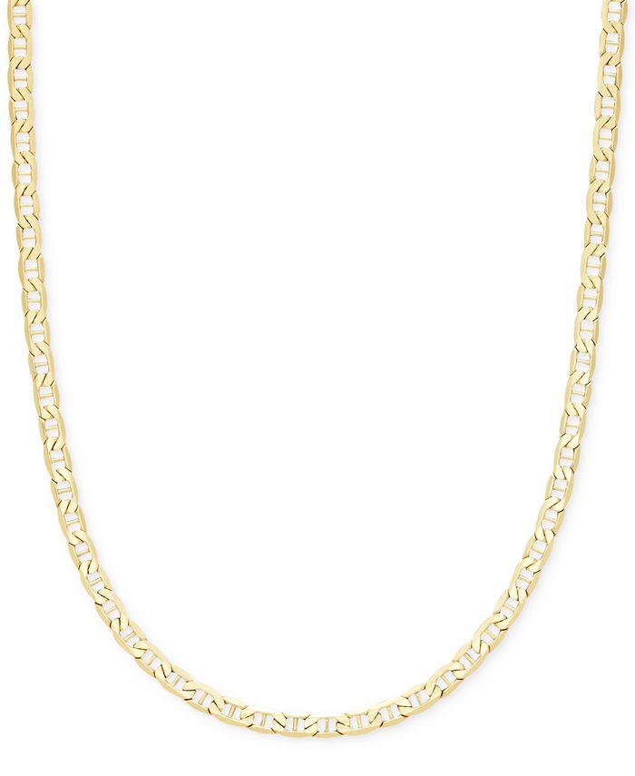 "Italian Gold - Marine Link Chain 22"" Necklace in Italian 14k Gold"
