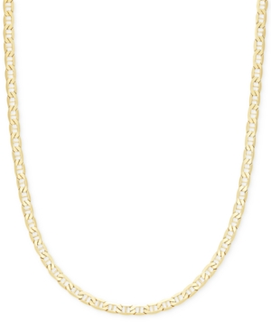 """22"""" Marine Link Chain Necklace (4-1/10mm) in 14k Gold"""