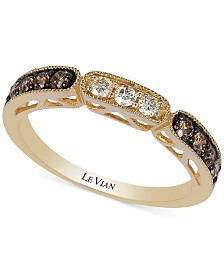 Le Vian Chocolate and White Diamond Ring in 14k Gold (3/8 ct. t.w.)
