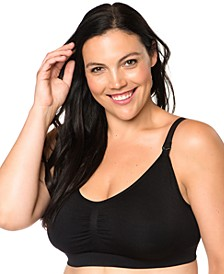 Plus Size Seamless Full-Coverage Clip-Down Nursing Bra