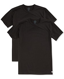 Men's Cotton Stretch Crew Neck Undershirt 2-Pack