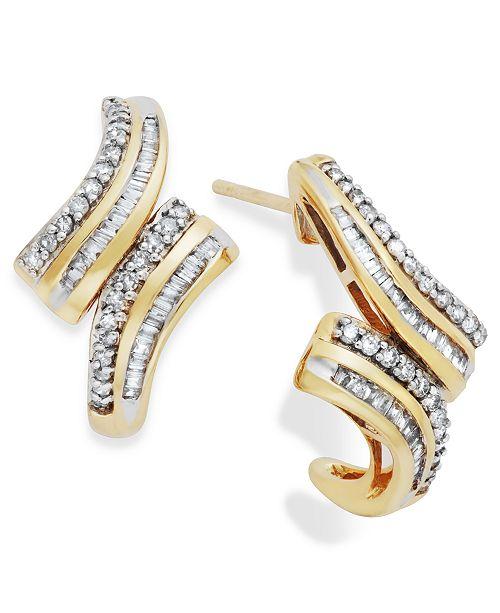 Wrapped in Love Diamond Twist Drop Earrings in 10k Gold (1/2 ct. t.w.), Created for Macy's