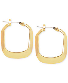 Kenneth Cole New York Gold-Tone Rectangle Hoop Earrings