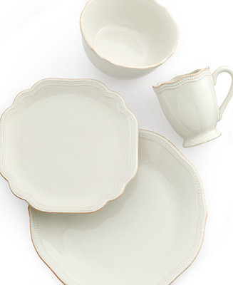Lenox Dinnerware French Perle Bead White Collection
