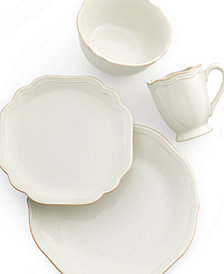 Lenox Dinnerware, French Perle Bead White Collection