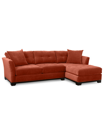 Elliot 2 piece chaise sectional sofa custom colors for 2 piece sectional with chaise lounge