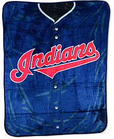 Northwest Company Cleveland Indians Plush Jersey Throw Blanket