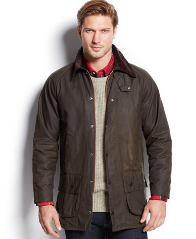 Barbour Men S Beaufort Waxed Jacket Men Macy S
