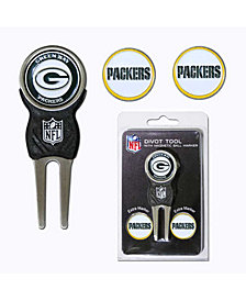 Team Golf Green Bay Packers Divot Tool and Markers Set